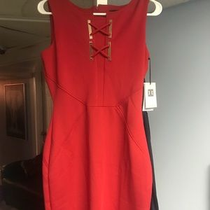 Red Midi Dress New with Tags.
